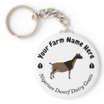 Personalized Nigerian Dwarf Dairy Goat Keychain