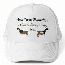 Personalized Nigerian Dwarf Dairy Goat Trucker Hat