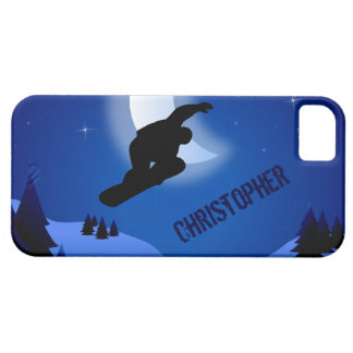 Personalized Night Snowboard iPhone 5 Case