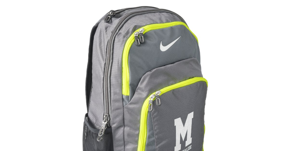 Personalized Nike backpack with custom monogram  80a0af45cc1dc