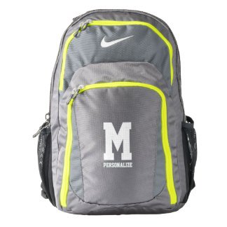 Personalized Nike backpack with custom monogram