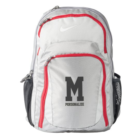 Personalized Nike backpack with name monogram  06b41342f