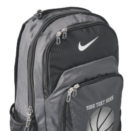 Personalized Nike Basketball Backpack, YOUR TEXT Nike Backpack