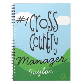 Personalized No 1 Cross Country Running Manager Spiral Notebook