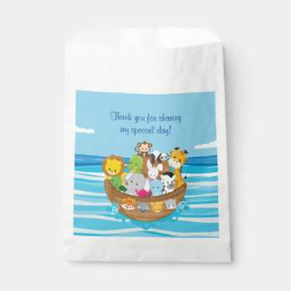 Personalized Noah's Ark Theme | Baby Animals Favor Bag