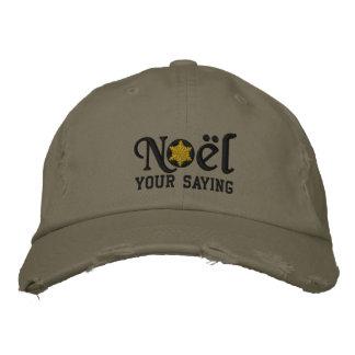 Personalized Noel Snowflake Military Style Cap