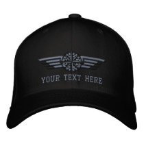 Personalized Northern Star Compass Pilot Wings Embroidered Baseball Cap