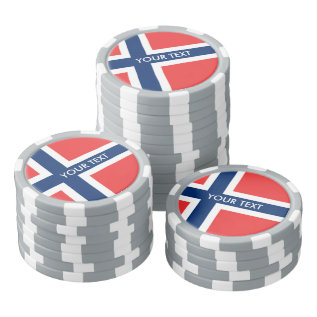 Personalized Norwegian Flag Poker Chips at Zazzle