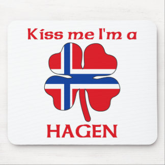 Personalized Norwegian Kiss Me I'm Hagen Mouse Pad