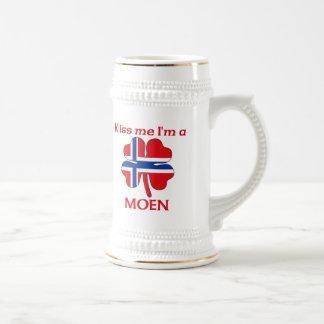 Personalized Norwegian Kiss Me I'm Moen Beer Stein