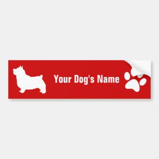 Personalized Norwich Terrier ノーリッチ・テリア Car Bumper Sticker