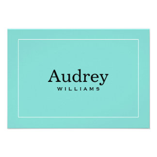 Personalized Note Card Little Blue Box Theme