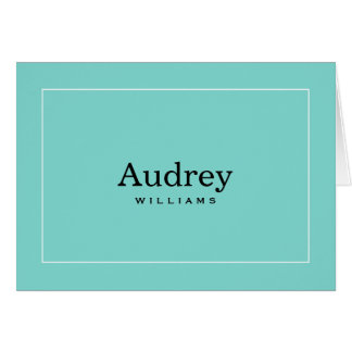 Personalized Note Cards Little Blue Box Theme