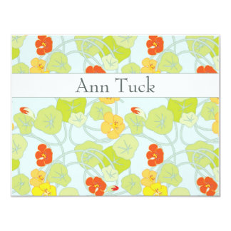 Personalized Note Cards - Nasturtiums Fresh by Ann