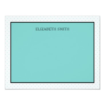 McTiffany Tiffany Aqua Personalized Note Cards | Tiffany Dots