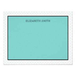 Personalized Note Cards Tiffany Dots