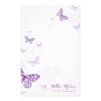 PERSONALIZED NOTEPAPER :: butterflies 3P Personalized Stationery