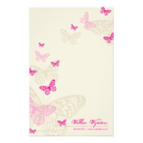 PERSONALIZED NOTEPAPER :: butterflies 4P Stationery