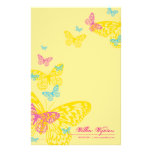 PERSONALIZED NOTEPAPER :: butterflies 6P Stationery