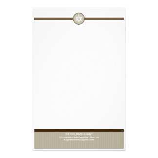 PERSONALIZED NOTEPAPER :: stripedstitch 2 Stationery