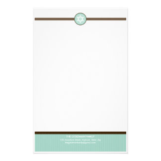 PERSONALIZED NOTEPAPER :: stripedstitch 4 Stationery Design