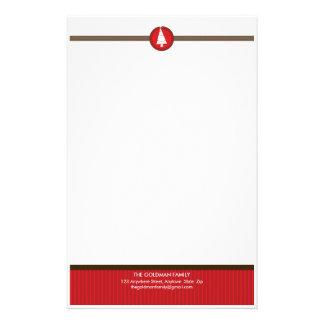 PERSONALIZED NOTEPAPER :: stripedstitch 5 Stationery