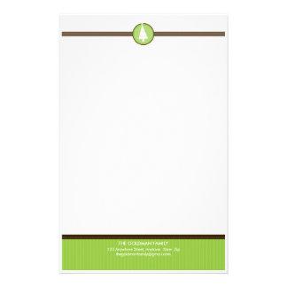 PERSONALIZED NOTEPAPER :: stripedstitch 6 Stationery