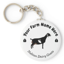 Personalized Nubian Dairy Goat Keychain