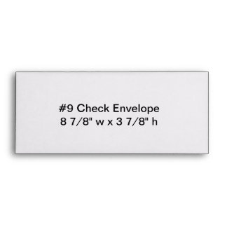 Personalized Number 9 Check Envelope