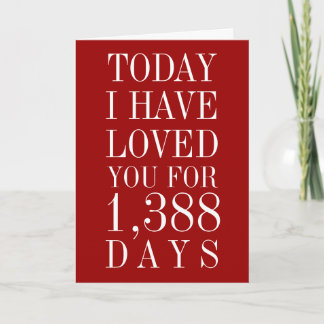 Personalized Number of Days I've Loved You Card