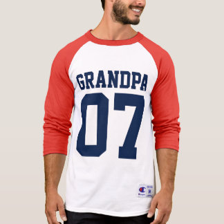 Personalized Number Sports Jersey Grandpa T-Shirt
