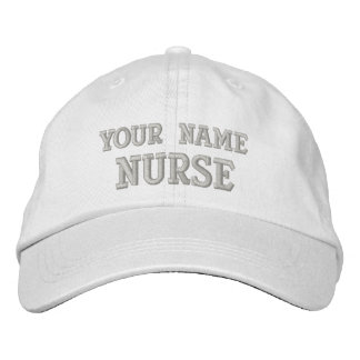 Personalized Nurse Cap Embroidered Hats