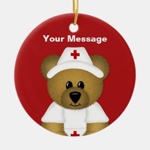 Personalized Nurse Christmas Ornament | Zazzle