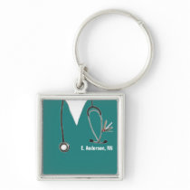 personalized nurse collectible keychain