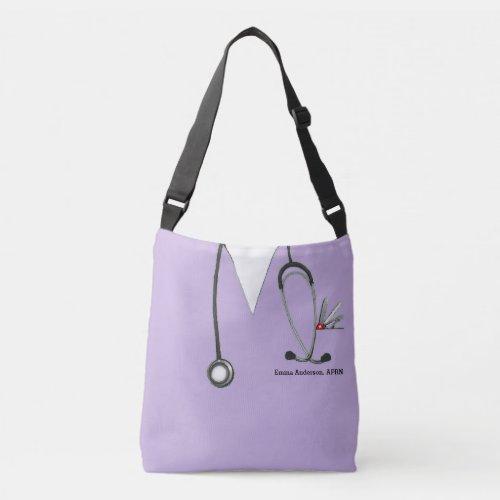 personalized nurse crossbody bag