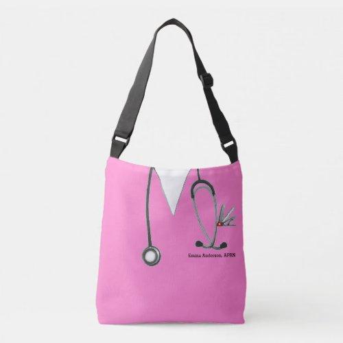 personalized nurse gift crossbody bag