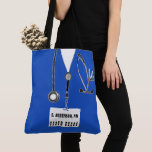 personalized nurse gift tote bag