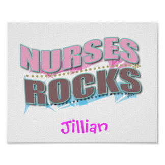 Personalized Nurse Gifts Poster