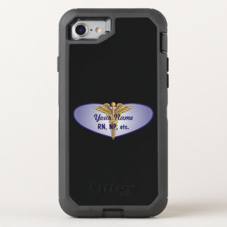 Personalized Nurse Heart Caduceus OtterBox Defender iPhone 7 Case