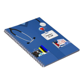 Personalized Nurse Notebook Blue