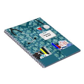 Personalized Nurse Notebook Flower Print