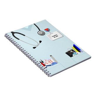 Personalized Nurse Notebook Light Blue