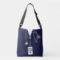 personalized nurse novelty crossbody bag