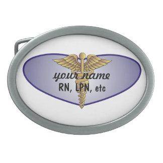 Personalized Nurse Oval Belt Buckle