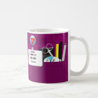 Personalized Nurse Scrubs in Hot Pink Coffee Mug