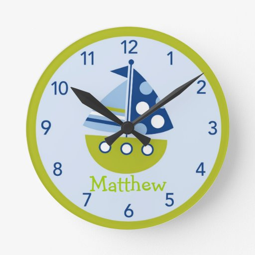 Personalized Nursery Wall Clock