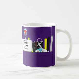 Personalized Nurse's Scrubs in Purple Coffee Mug