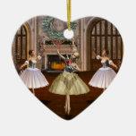 Personalized Nutcracker Ballerina Heart Ornament