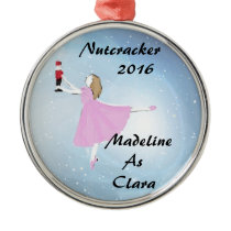 Personalized Nutcracker Clara ornament