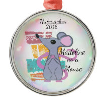 Personalized Nutcracker Ornament - Mouse
